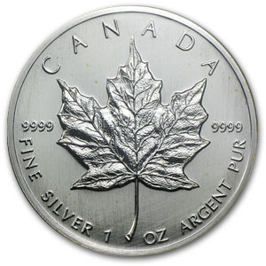 1989 Canada 1 oz Silver Maple Leaf PCGS (WTC)
