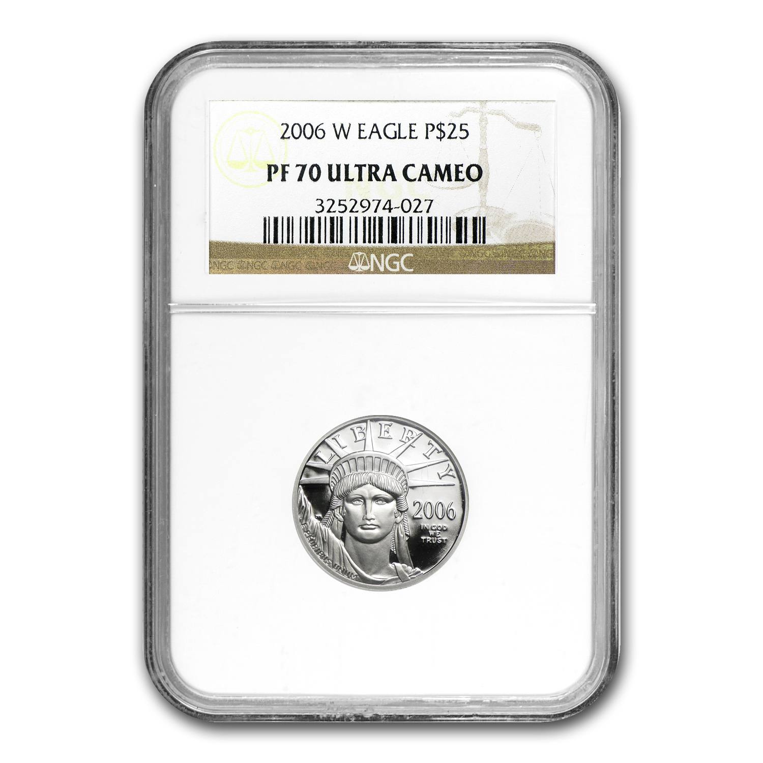 2006-W 1/4 oz Proof Platinum American Eagle PF-70 UCAM NGC