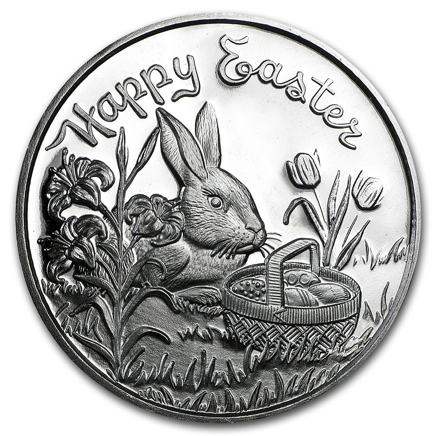 1 Oz Silver Round Happy Easter W Box Amp Capsule