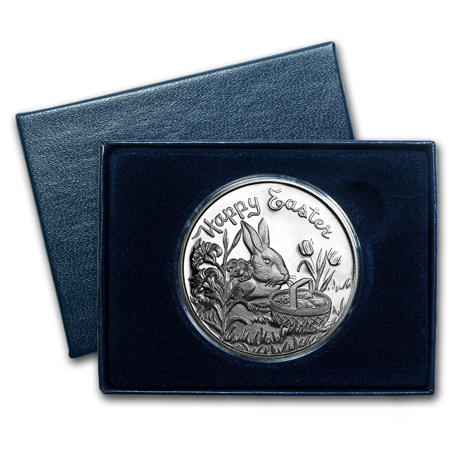 1 oz Silver Round - Happy Easter (w/Box & Capsule)