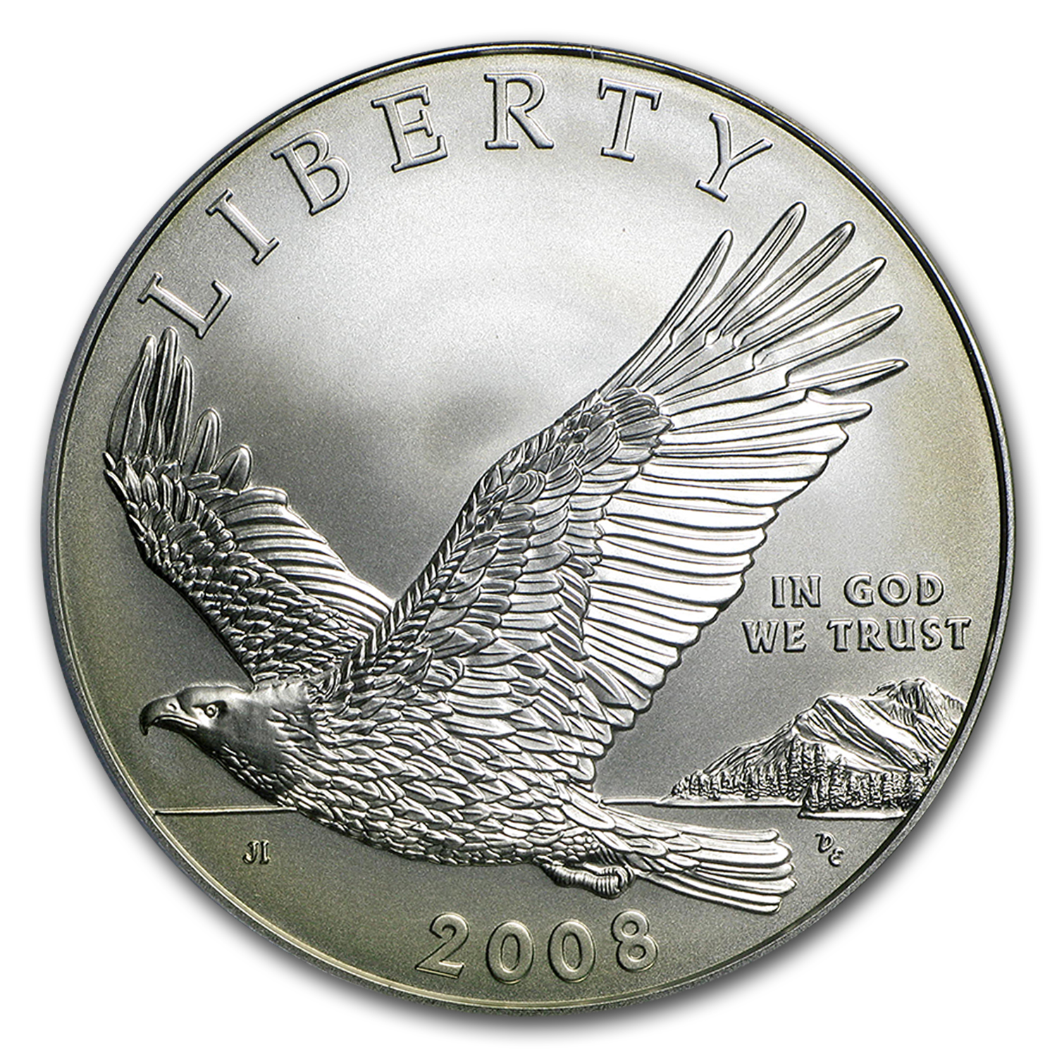 2008-P Bald Eagle $1 Silver Commem MS-69 PCGS
