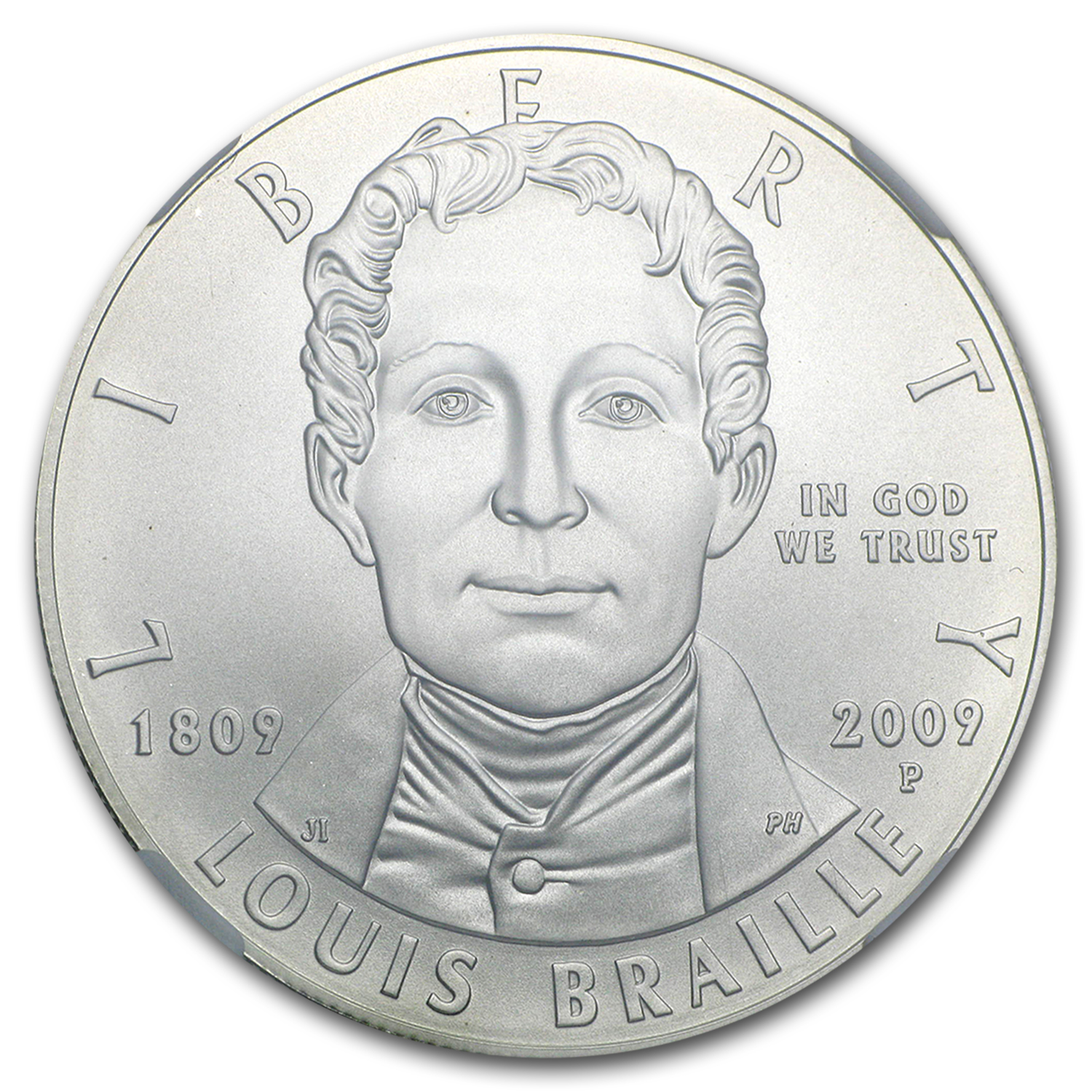 2009-P Louis Braille $1 Silver Commem MS-69 NGC