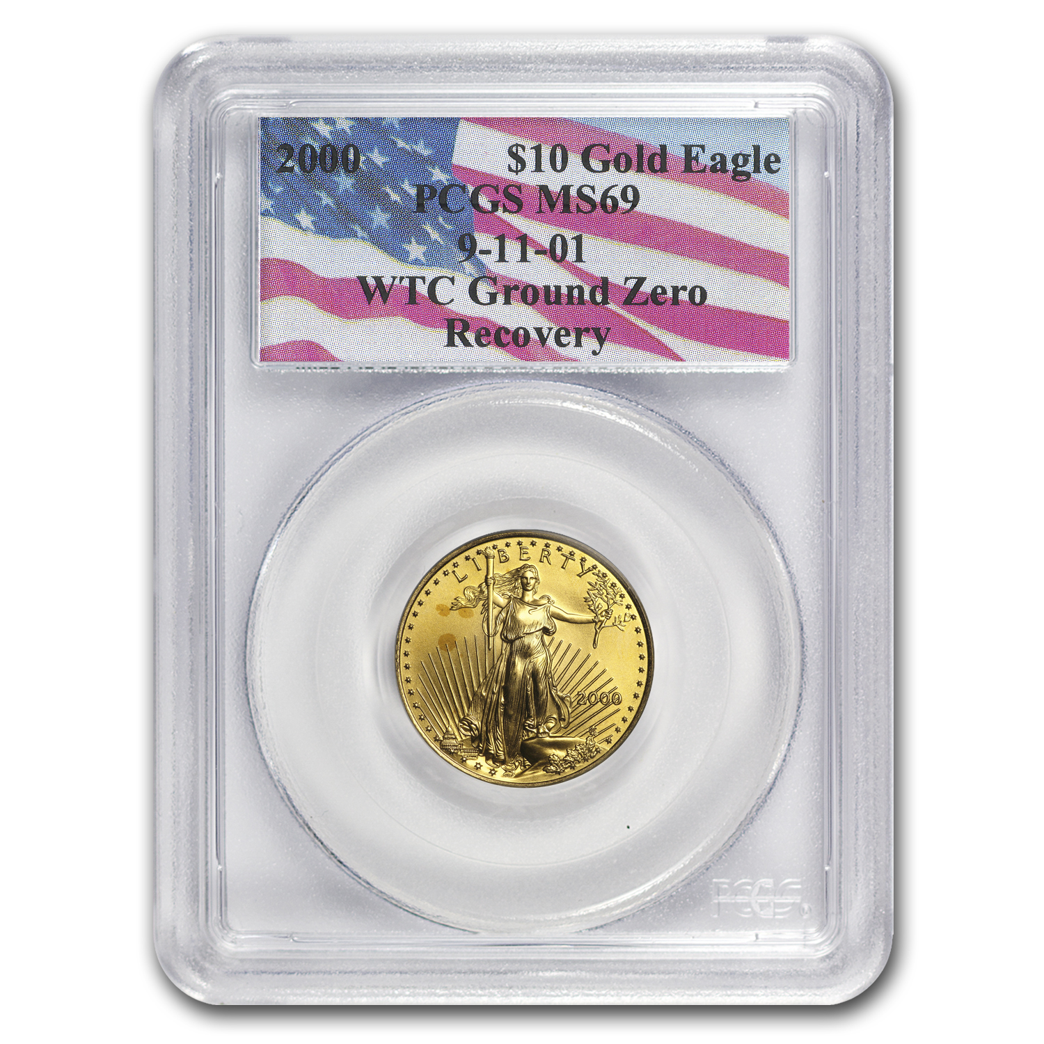 2000 1/4 oz Gold American Eagle MS-69 PCGS (World Trade Center)