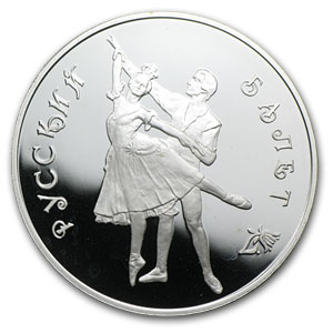 Russia 1 oz Silver 3 Rouble Bolshoi Ballet Proof (Random Dates)