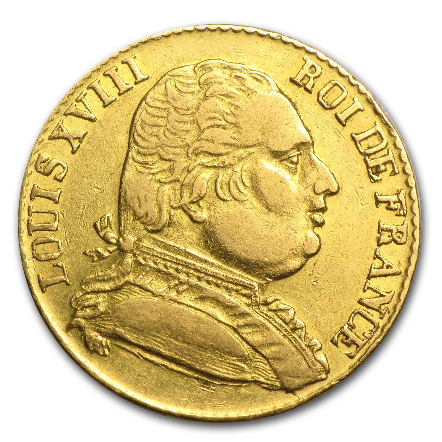 France 1815-R Gold 20 Francs of Louis XVIII - Extra Fine