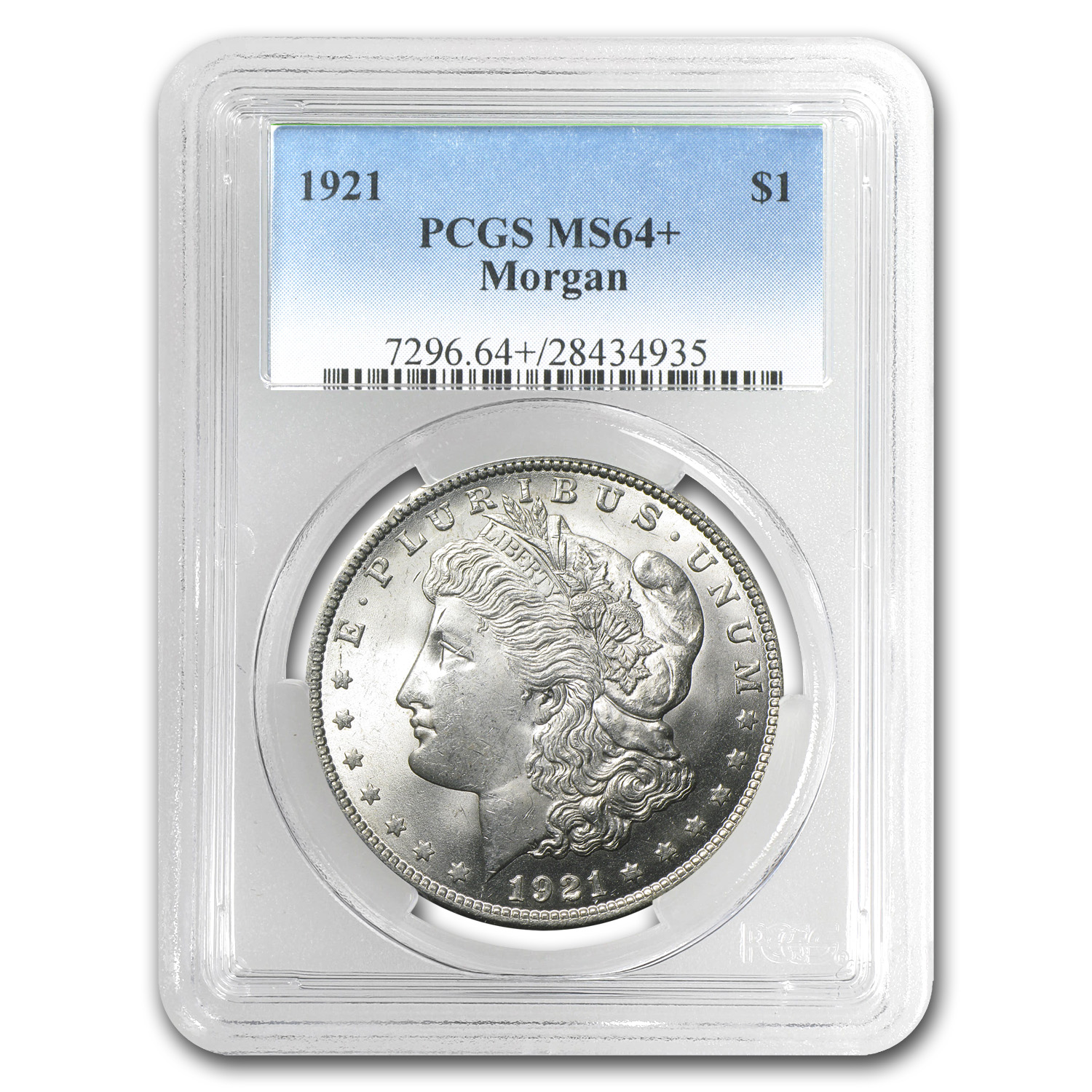 1921 Morgan Dollar - MS-64+ Plus PCGS