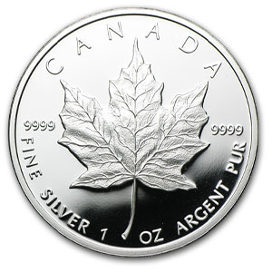 1989 Canada 1 oz Proof Silver Maple Leaf