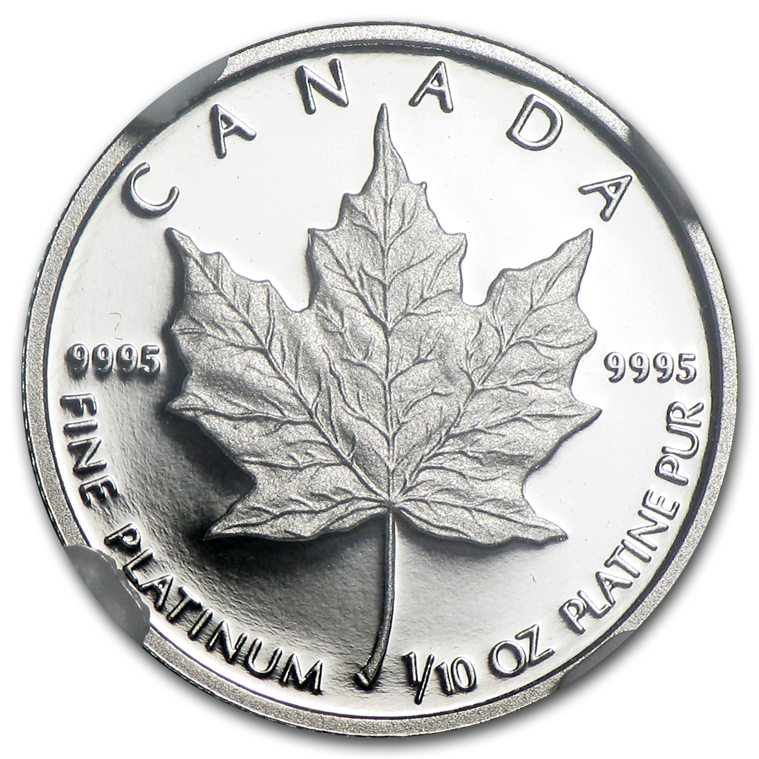 1989 1/10 oz Canadian Platinum Maple Leaf (PF-69 NGC)