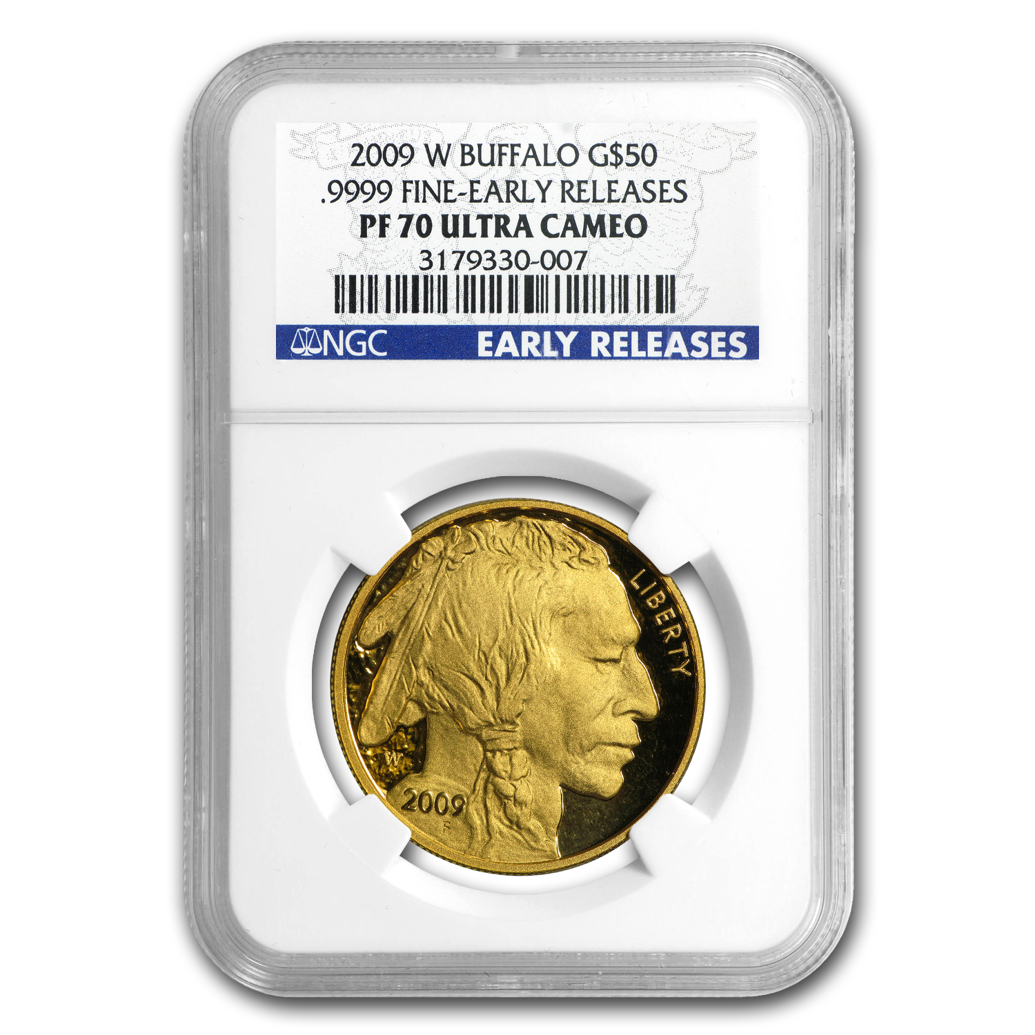 2009-W 1 oz Proof Gold Buffalo PF-70 NGC (ER, Ultra Cameo)