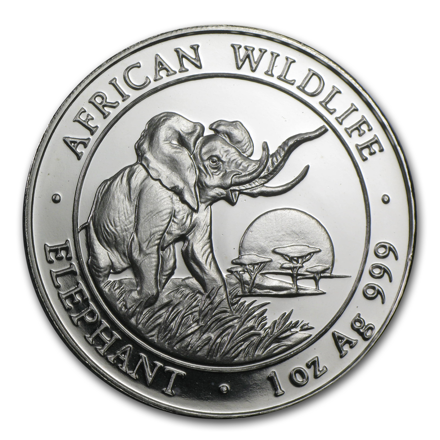 2009 1 oz Silver Somalian Elephant - Brilliant Uncirculated