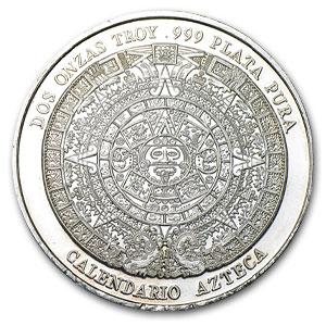 2 Oz Silver Round Pancho Villa W Calendar 2 Oz