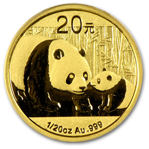 2011 (1/20 oz) Gold Chinese Panda - MS-70 PCGS