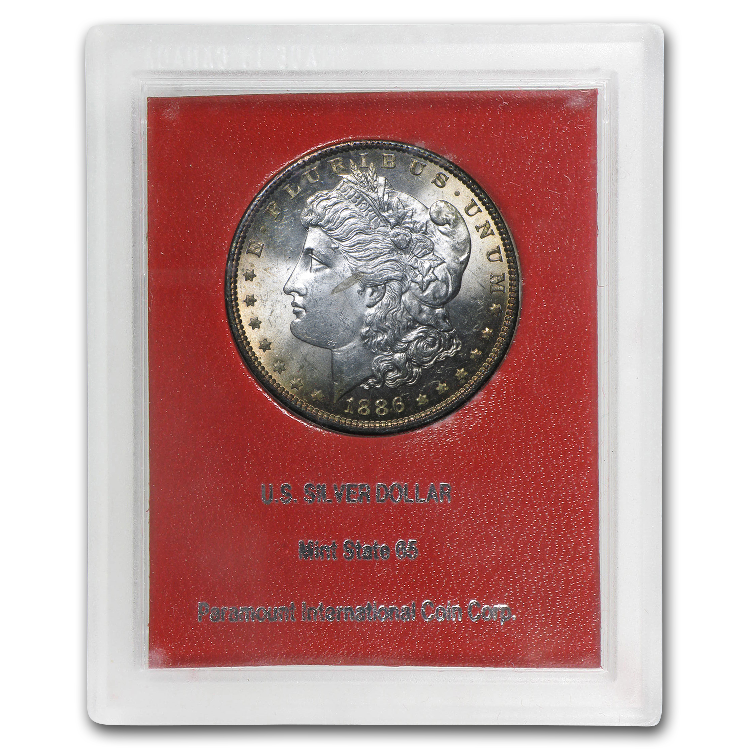 1886 Morgan Dollar MS-60 (Paramount International Coin Co.)