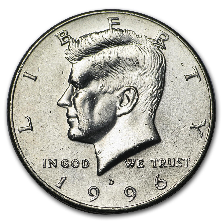 1996 D Kennedy Half Dollar Ms 60 Ms 63 Kennedy Half
