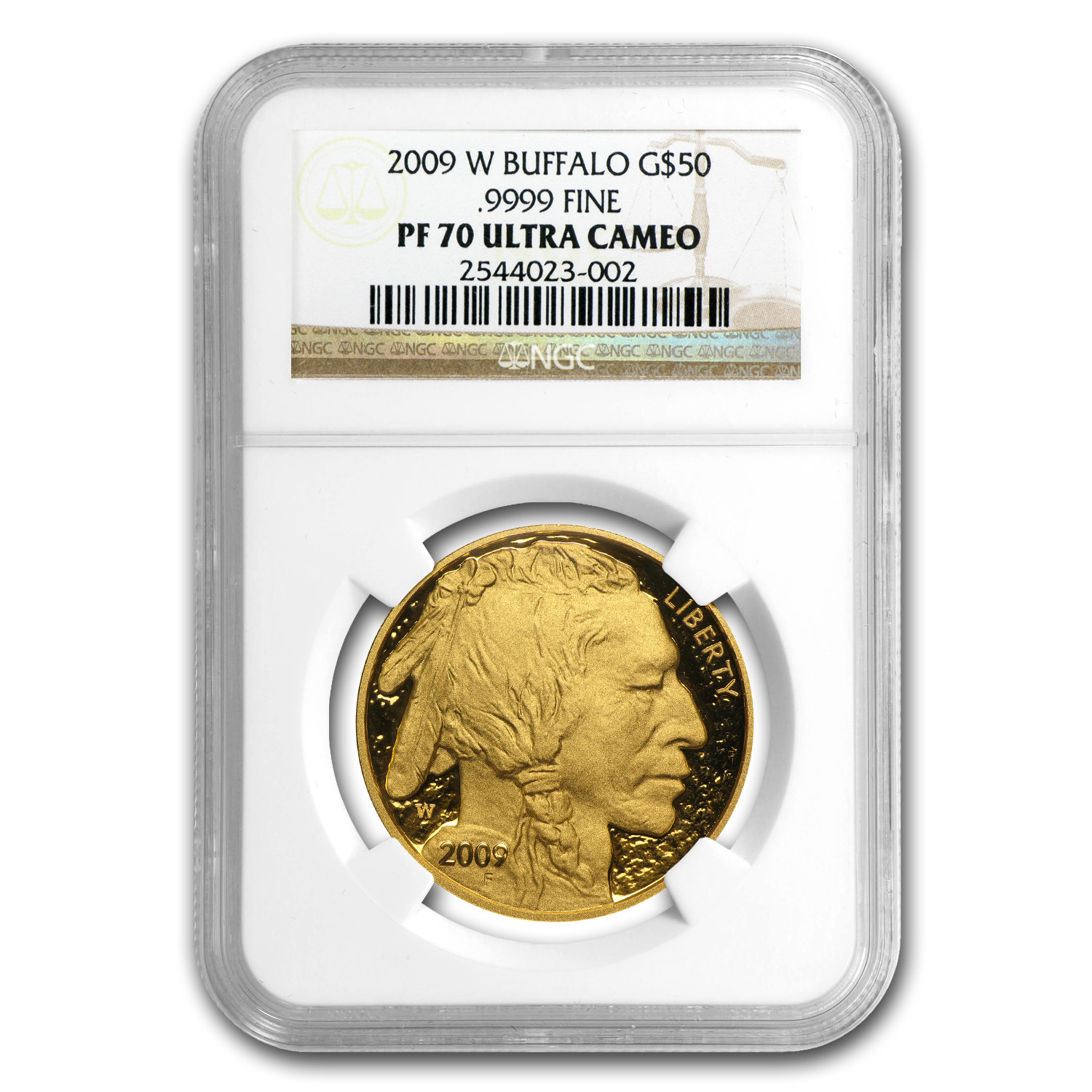 2009-W 1 oz Proof Gold Buffalo PF-70 UCAM NGC