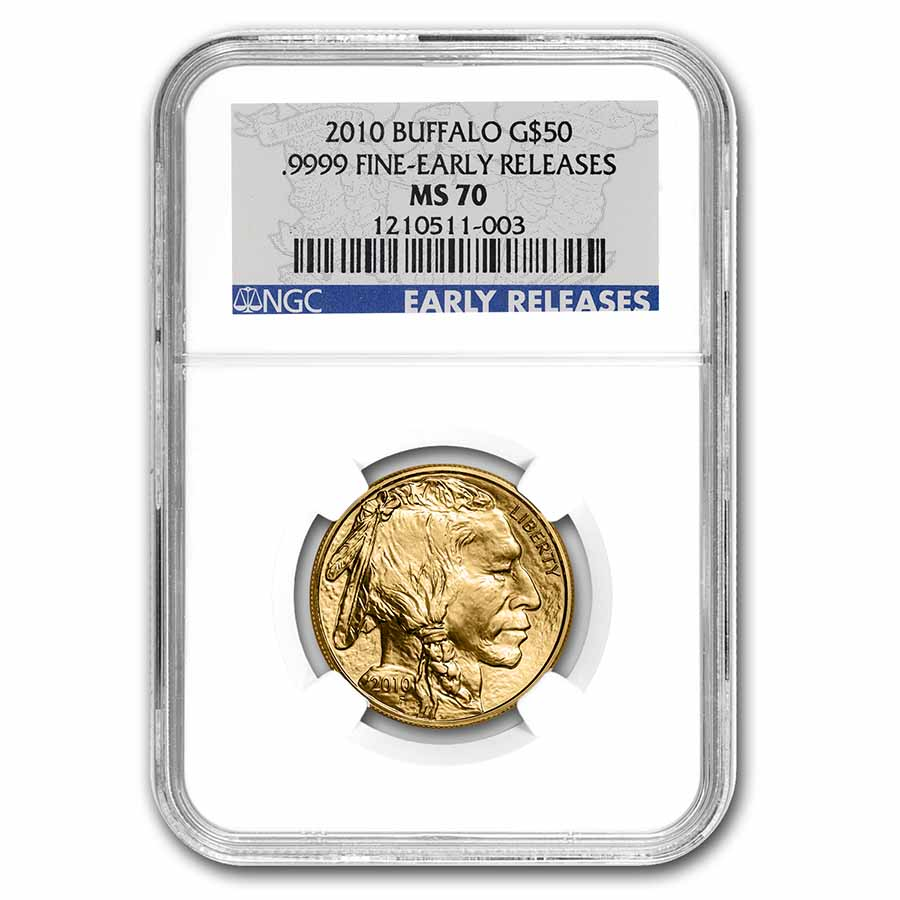 2010 1 oz Gold Buffalo MS-70 NGC (Early Releases)