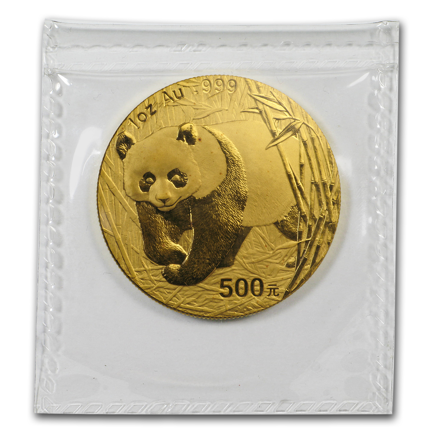 2001-D 1 oz Gold Chinese Panda BU (Sealed)