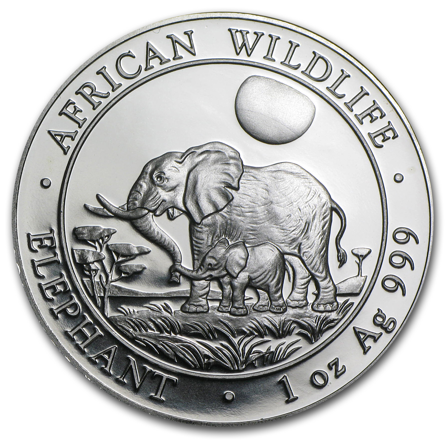 2011 1 oz Silver Somalian Elephant - Brilliant Uncirculated