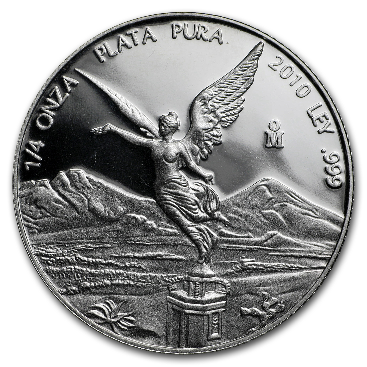 2010 Mexico 1/4 oz Silver Libertad Proof (In Capsule)