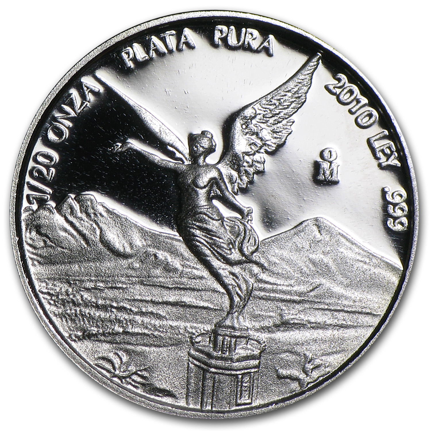 2010 Mexico 1/20 oz Silver Libertad Proof (In Capsule)