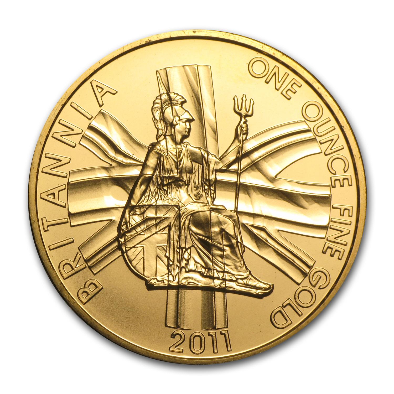 2011 Great Britain Gold 1 Oz Britannia Bu Gold Value