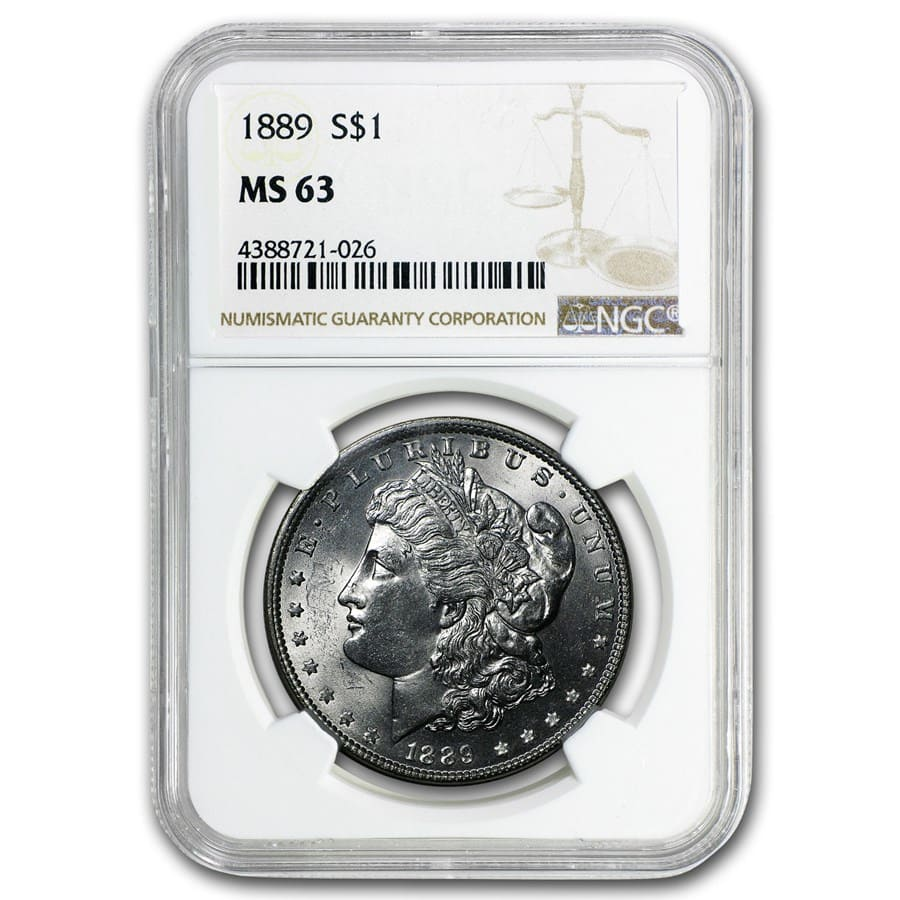 1878-1904 20-Different Dates/Mints Morgan Dollars MS-63 NGC