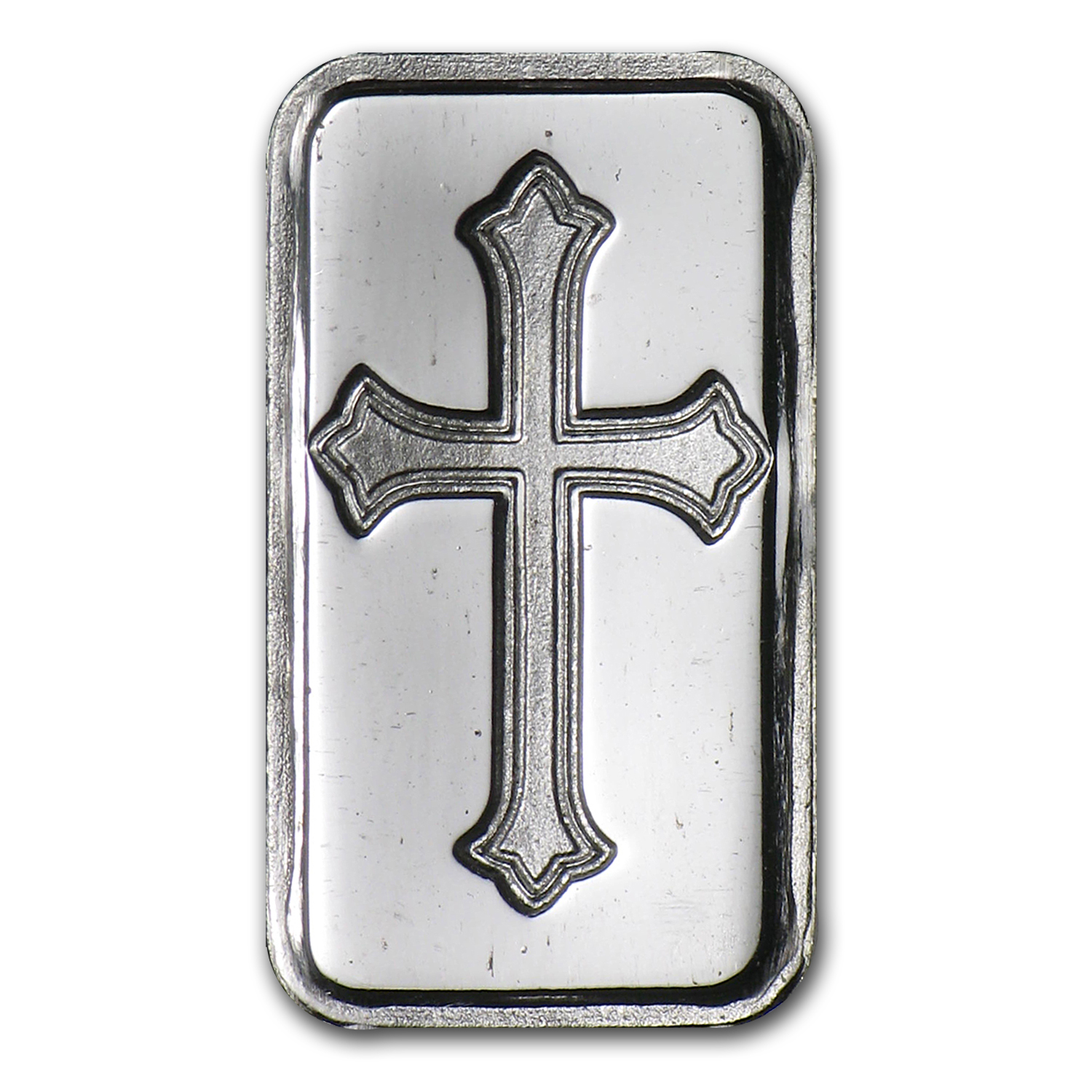 1 gram Silver Bar - Cross