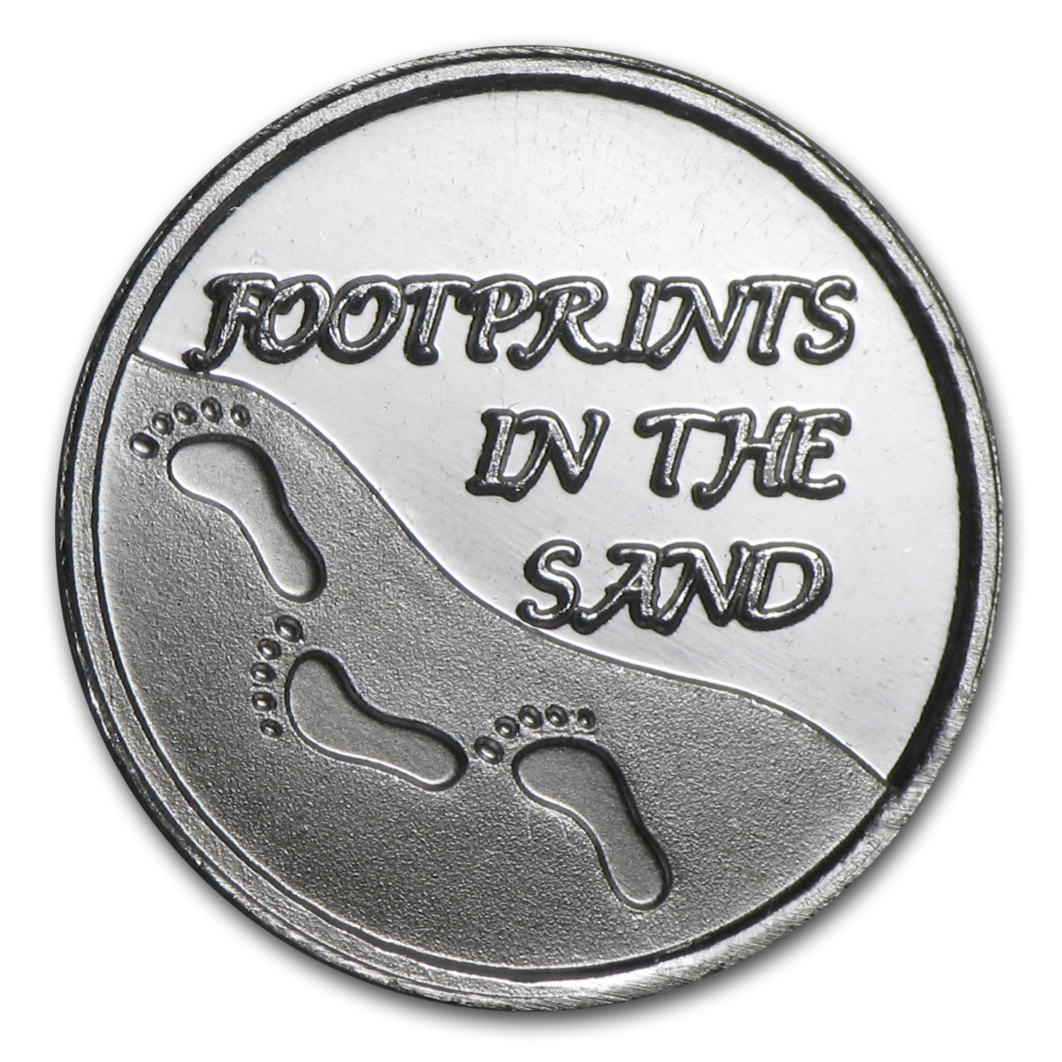1/20 oz Silver Round - Footprints in the Sand