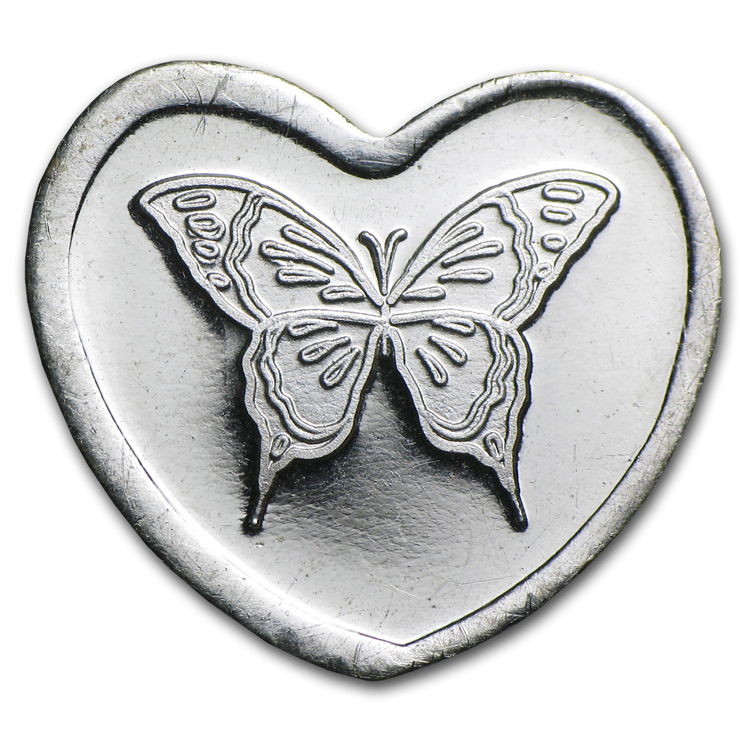 1/10 oz Silver Hearts - Butterfly
