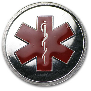 1/10 oz Silver Round - Medical Enameled
