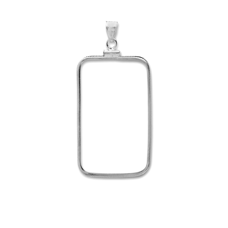 Sterling Silver Bezels Fits 1 Gram Bars Plain Front