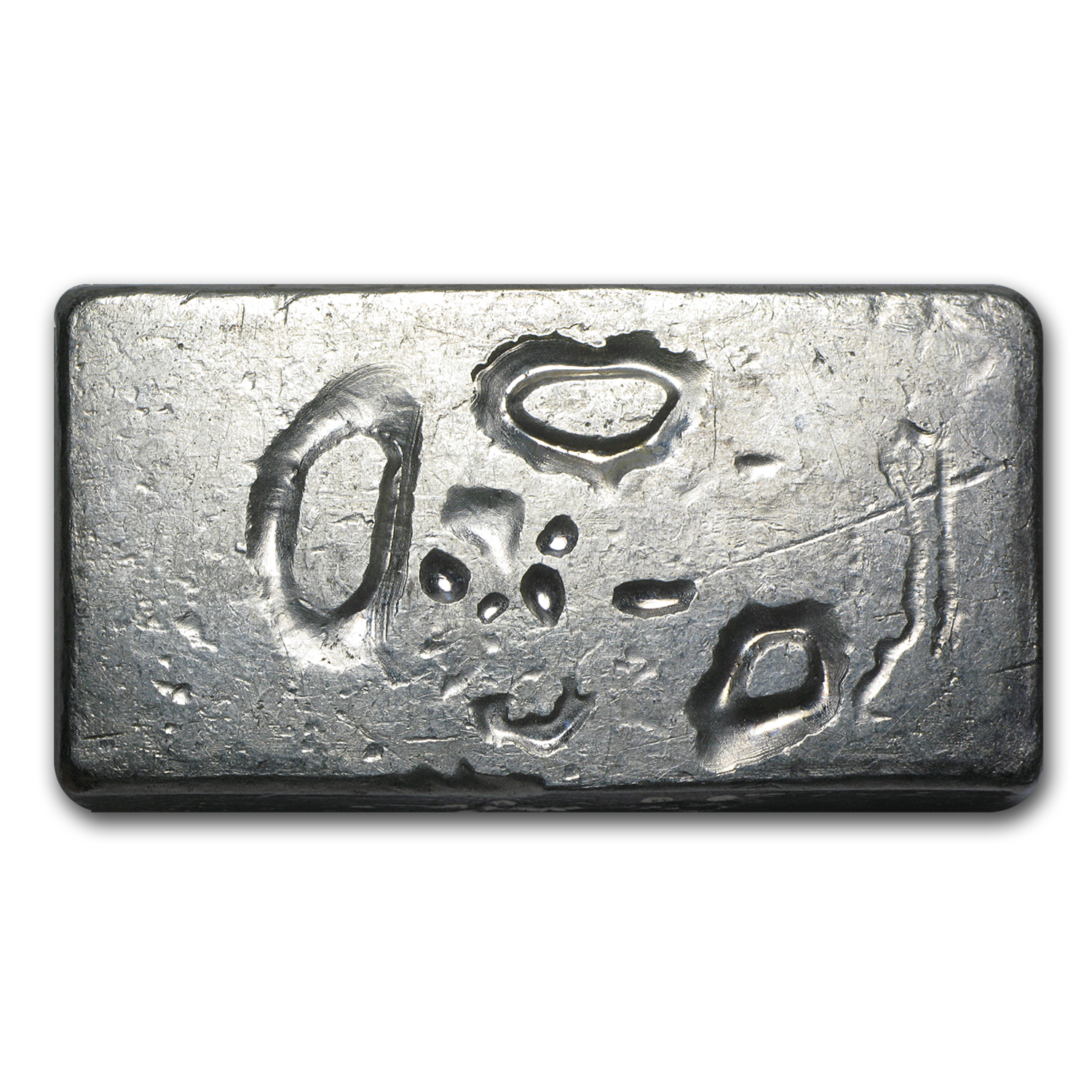 10 oz Silver Bar - Engelhard (Wide, Poured, Bull Logo)