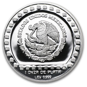 1993 Mexico 1 oz Silver 5 Pesos Brasero Efigie Proof