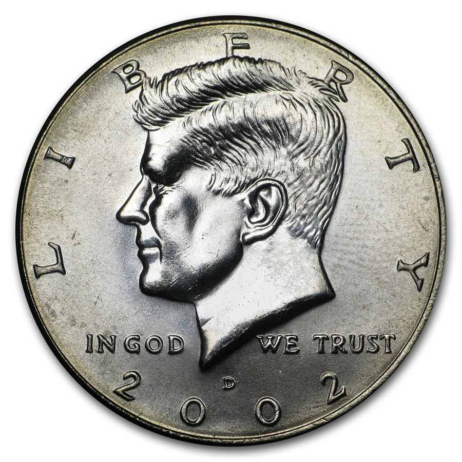2002 D Kennedy Half Dollar Ms 60 Ms 63 Kennedy Half