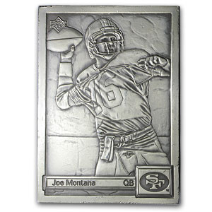 4.25 oz Silver Bar - Joe Montana