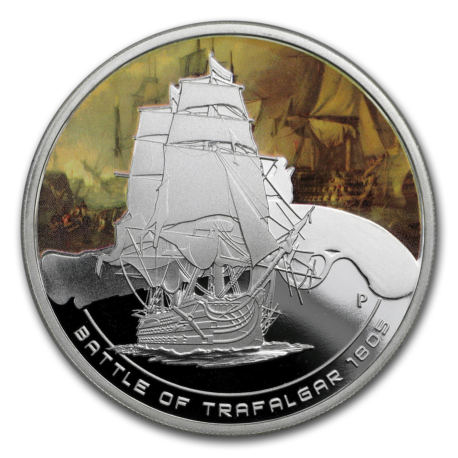 2010 1 oz Proof Silver Battle of Trafalgar Coin - Naval Battles