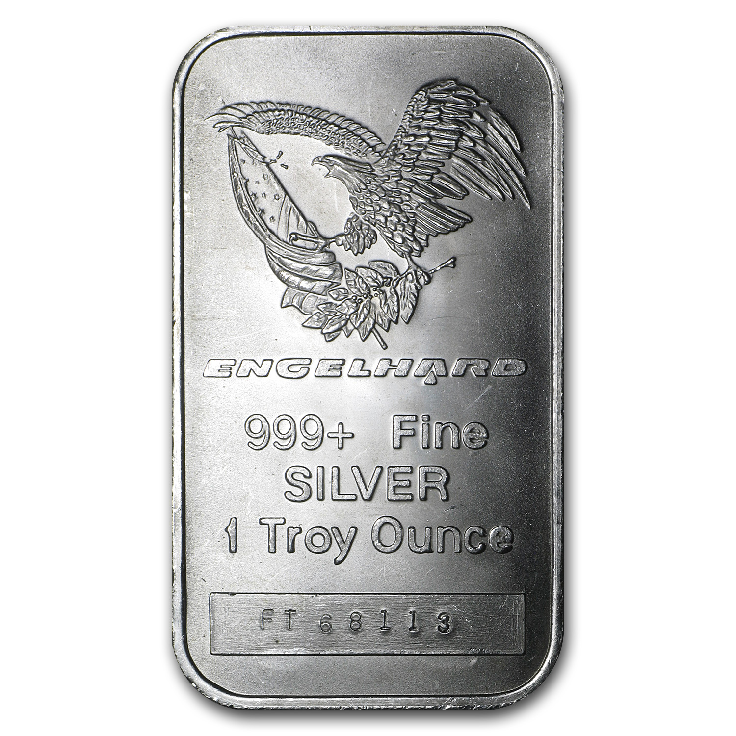 1 Oz Silver Bar Engelhard Tall Eagle Logo 1 Oz