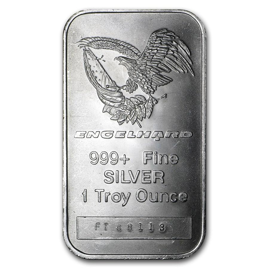 1 Oz Silver Bar Engelhard Tall Eagle Logo 1 Oz