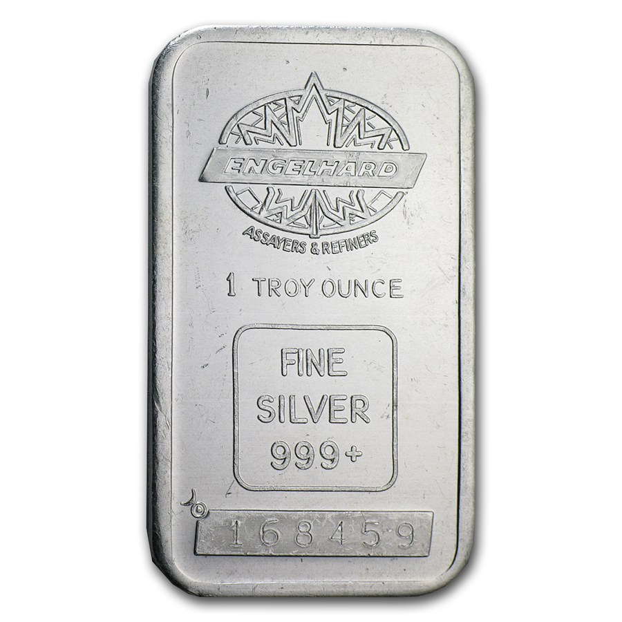 1 Oz Silver Bar Engelhard Tall Maple Smooth Border 1
