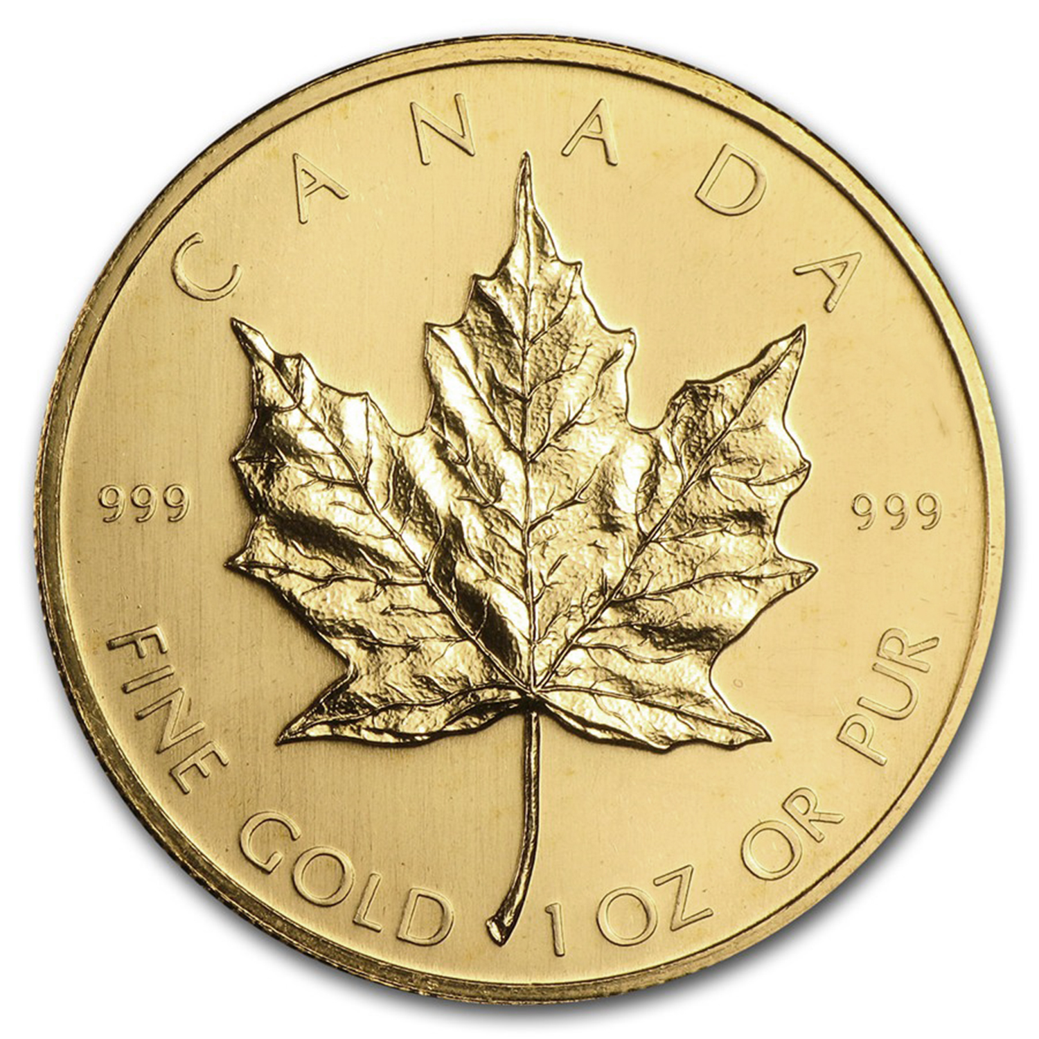 1979 1 oz Gold Canadian Maple Leaf - Brilliant Uncirculated