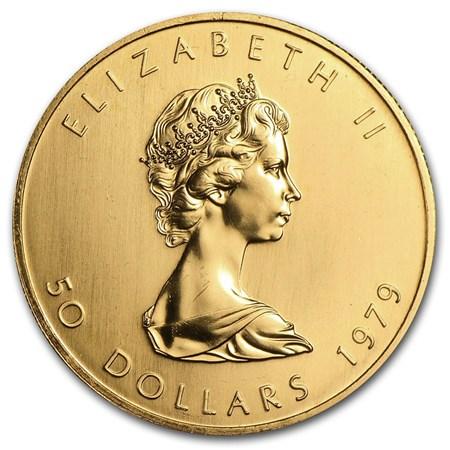 1979 Canada 1 Oz Gold Maple Leaf Bu 1 Oz Gold Maple