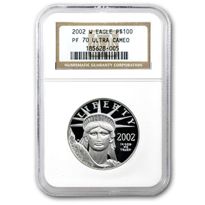 2002-W 4-Coin Proof Platinum American Eagle Set PF-70 NGC