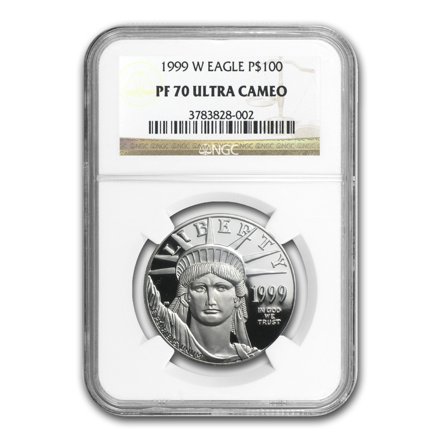 1999-W 4-Coin Proof Platinum American Eagle Set PF-70 UCAM NGC