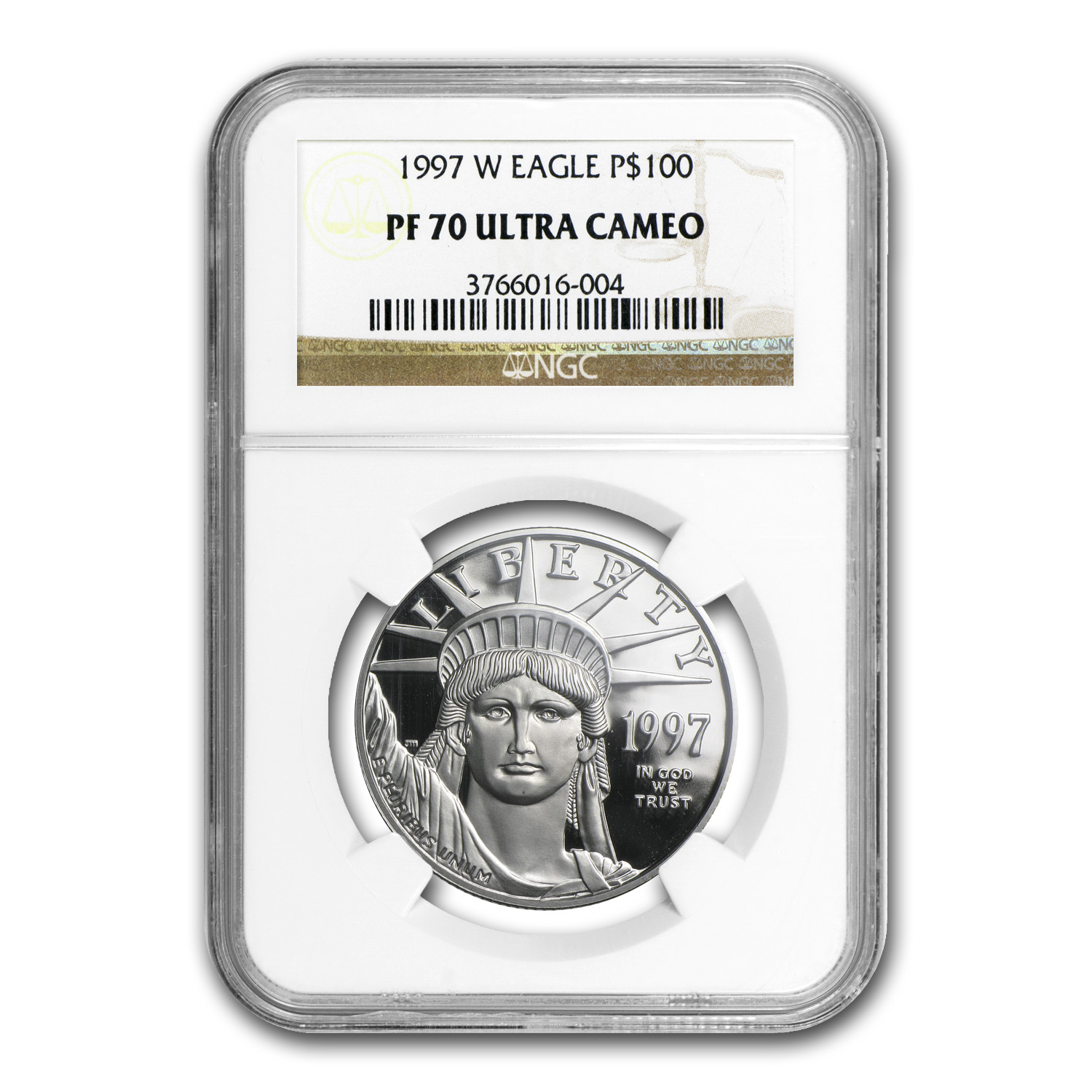 1997-W 4-Coin Platinum American Eagle PF-70 NGC UCAM Registry Set