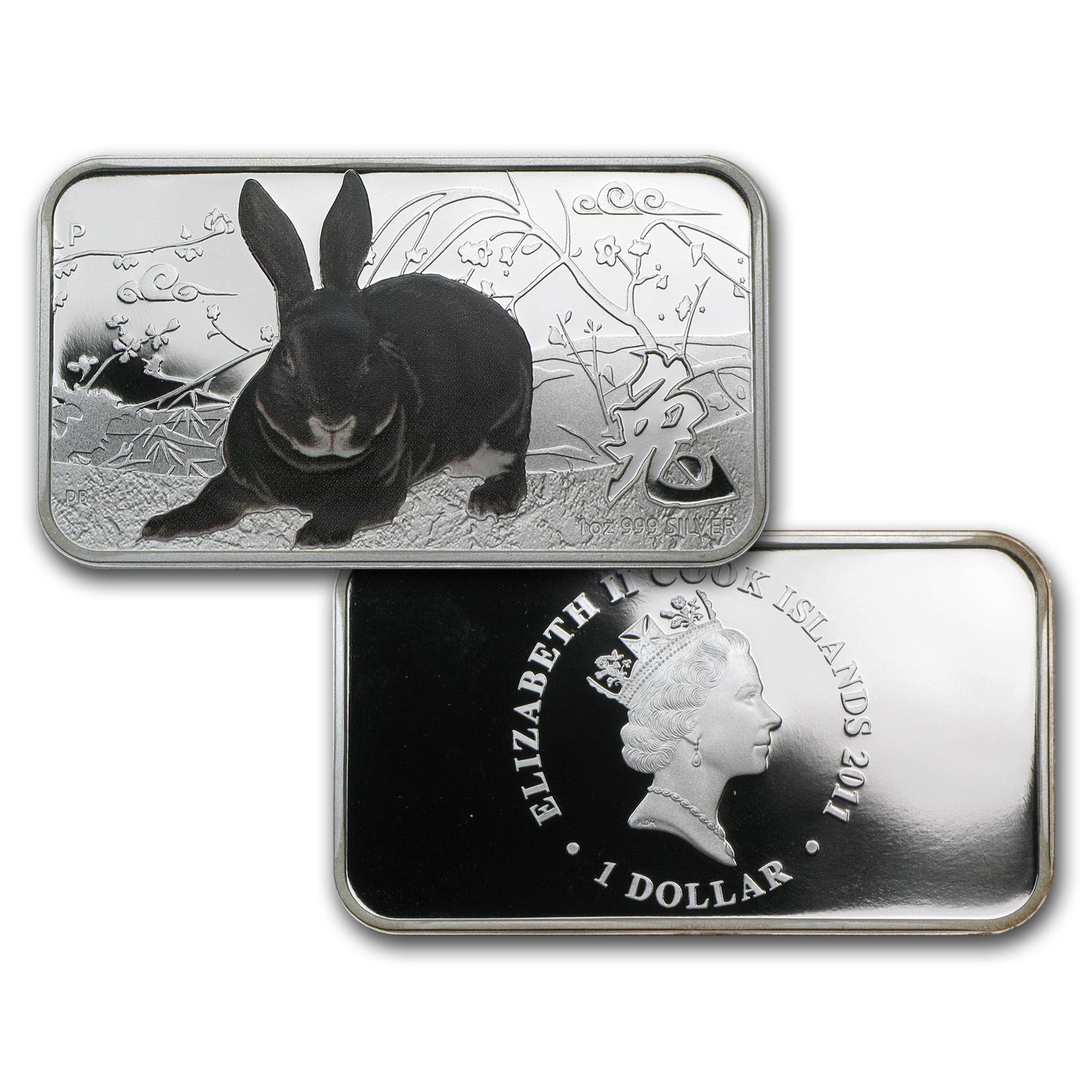 2011 4-Coin 1 oz Silver Australian Rabbit Proof Set (Rectangles)