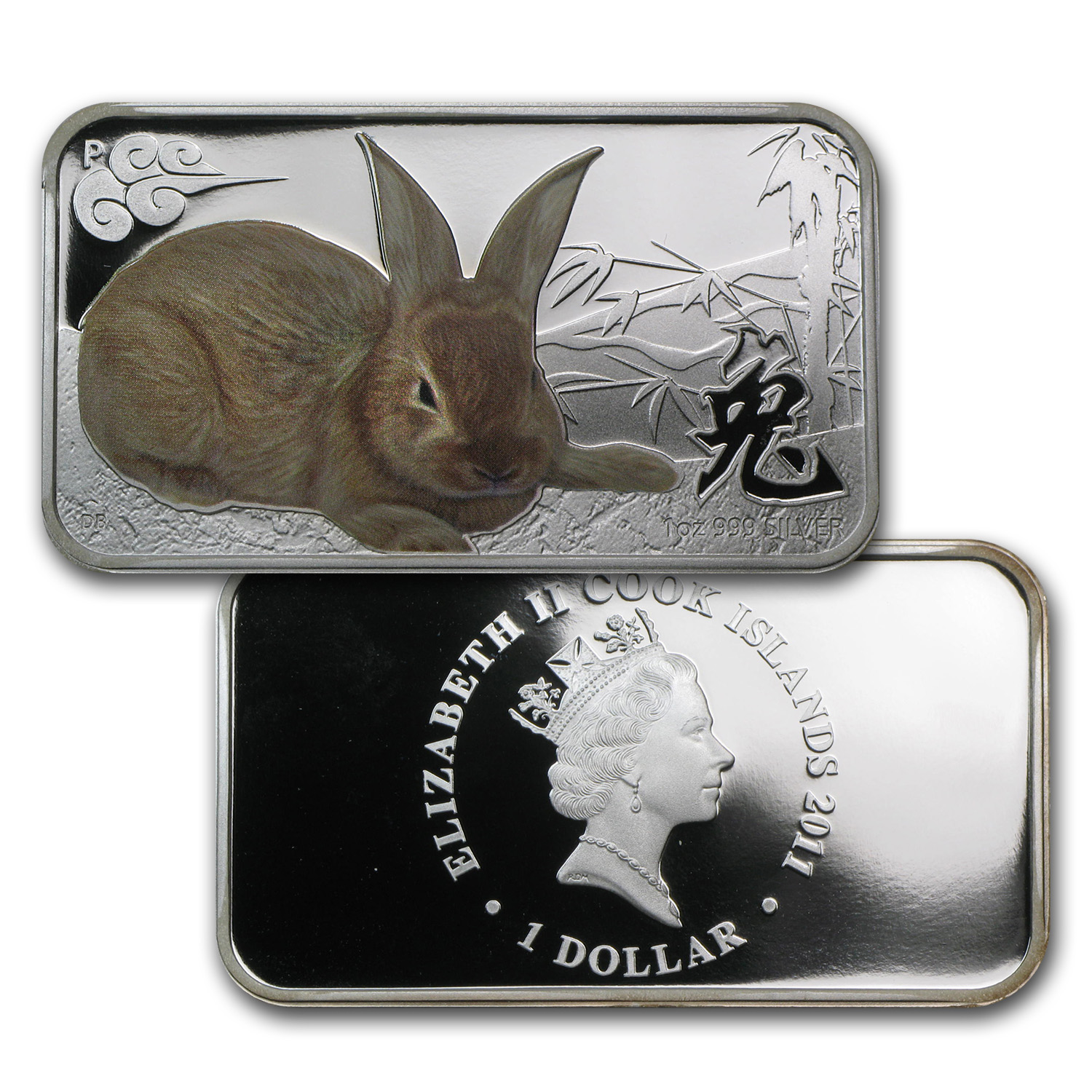 2011 Australia 4-Coin 1 oz Silver Rabbit Proof Set (Rectangles)