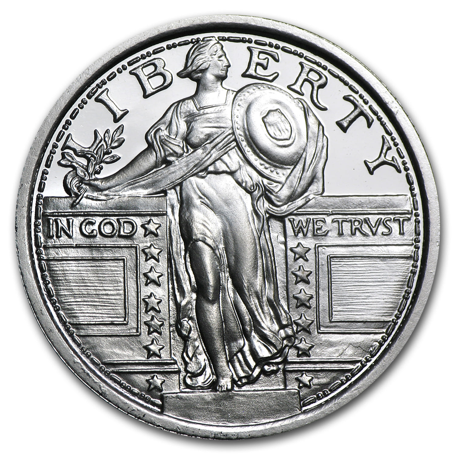 1 4 Oz Silver Round For Sale Fractional Standing Liberty