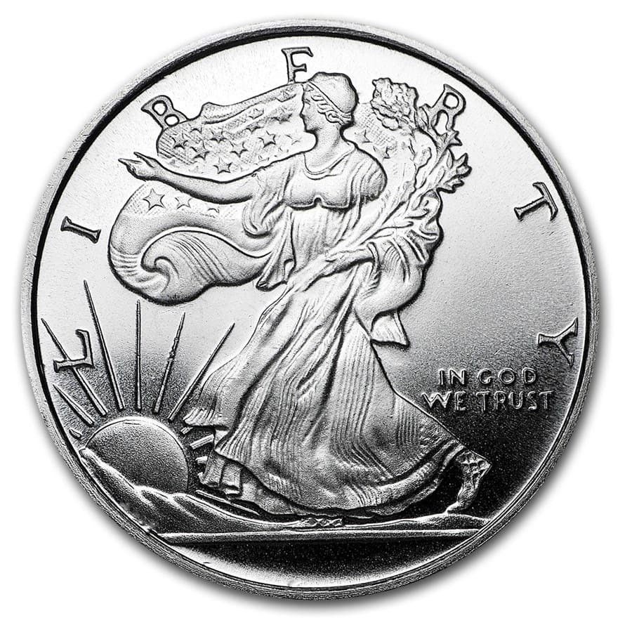 1 2 Oz Silver Round Apmex Walking Liberty Half Dollar