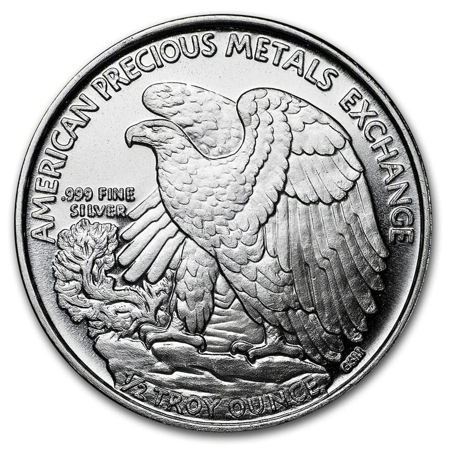 1/2 oz Silver Rounds - APMEX (Walking Liberty Half-Dollar)