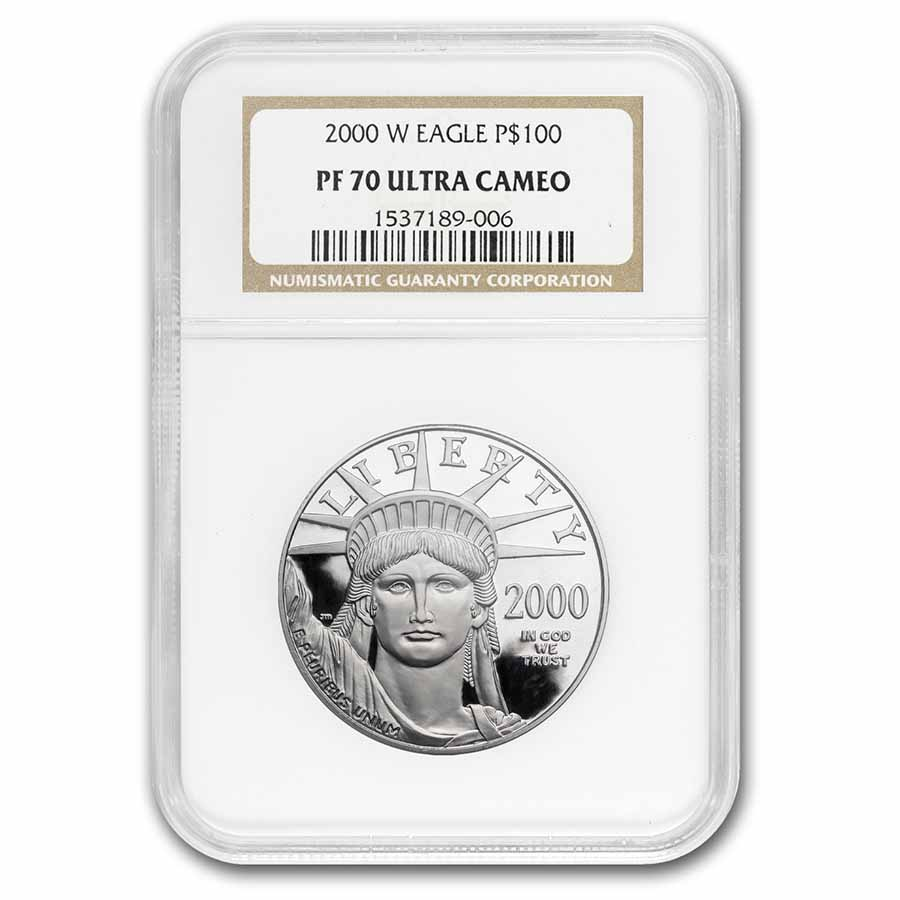 2000-W 1 oz Proof Platinum American Eagle PF-70 NGC